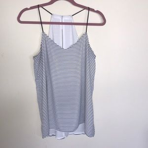 Express Barcelona B&W Striped Cami Size M